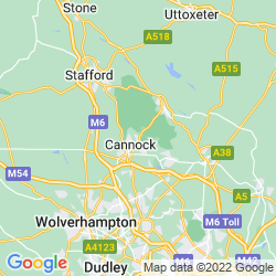 Map of Hednesford
