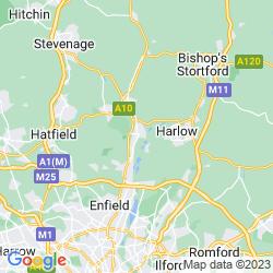 Map of Hoddesdon