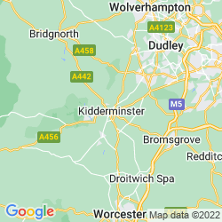 Map of Kidderminster