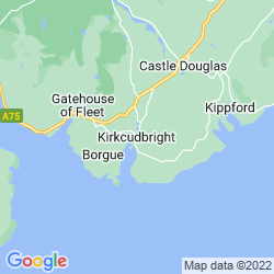 Map of Kirkcudbright