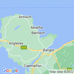 Map of Llanbedrgoch