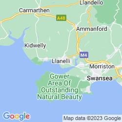 Map of Llanelli