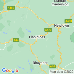 Map of Llanidloes