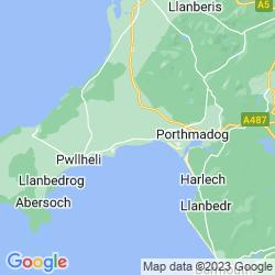 Map of Llanystumdwy