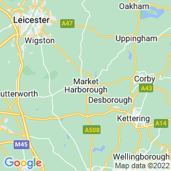 Map of Market Harborough