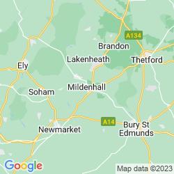 Map of Mildenhall