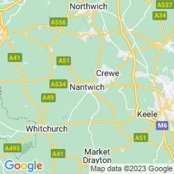 Map of Nantwich