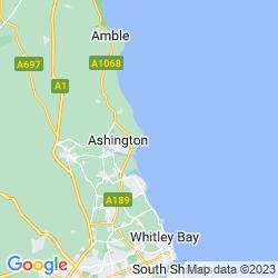 Map of Newbiggin-by-the-sea