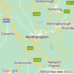 Map of Northampton