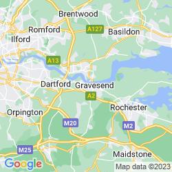 Map of Northfleet