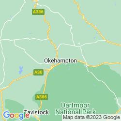 Map of Okehampton