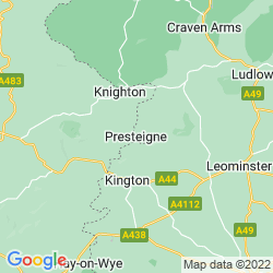 Map of Presteigne