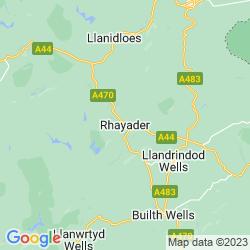 Map of Rhayader