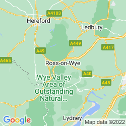 Map of Ross-on-Wye