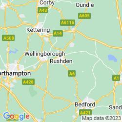 Map of Rushden