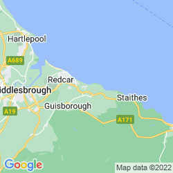 Map of Saltburn-by-the-Sea