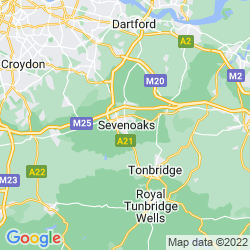 Map of Sevenoaks