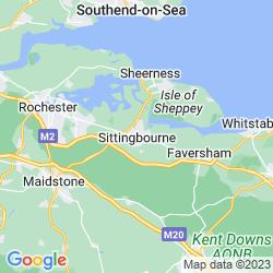 Map of Sittingbourne