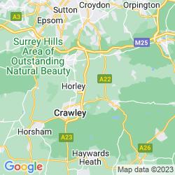 Map of Smallfield