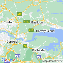 Map of Stanford-le-Hope