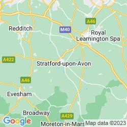Map of Stratford-upon-Avon