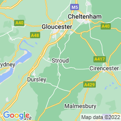 Map of Stroud