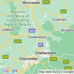 Map of Tewkesbury