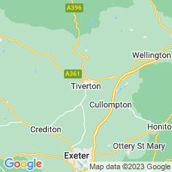 Map of Tiverton