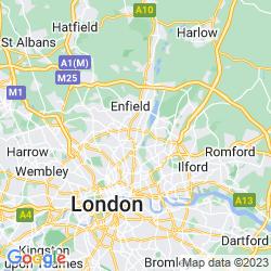 Map of Tottenham