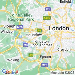 Map of Twickenham