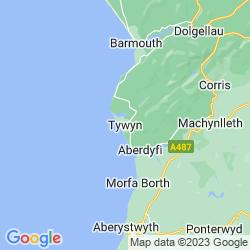 Map of Tywyn