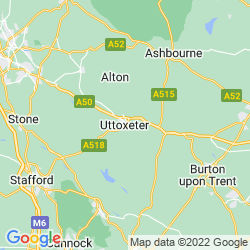 Map of Uttoxeter