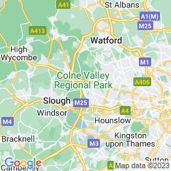 Map of Uxbridge
