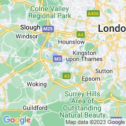 Map of Walton-on-Thames
