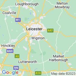 Map of Wigston