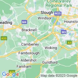 Map of Windlesham