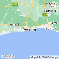 Map of Worthing