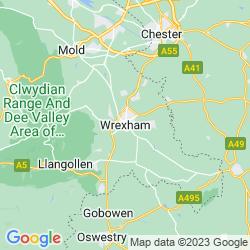 Map of Wrexham