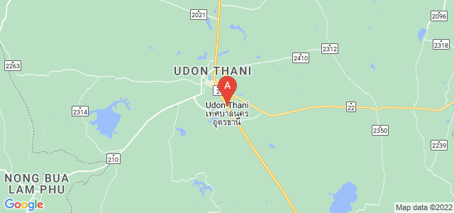 map of Udon Thani, Thailand