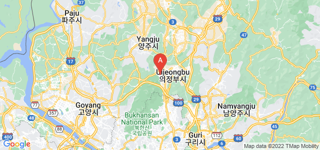 map of Uijeongbu, South Korea
