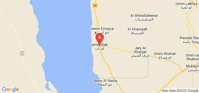 map of Umm Bab, Qatar
