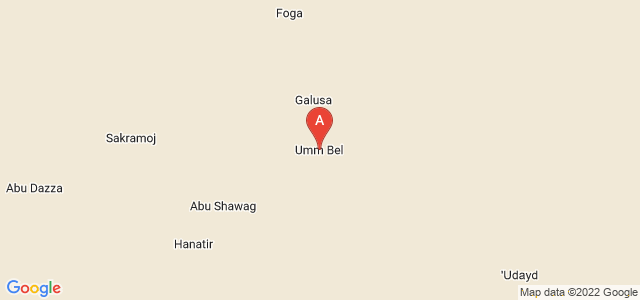 map of Umm Bel, Sudan