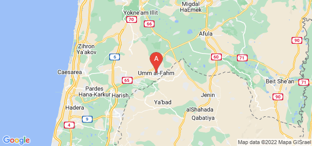 map of Umm al-Fahm, Israel