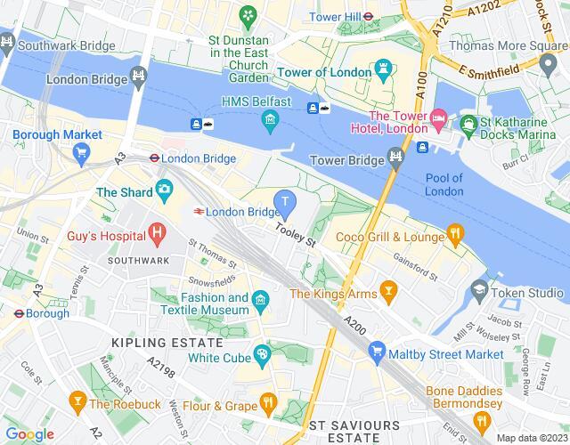Location map for Unicorn Theatre
