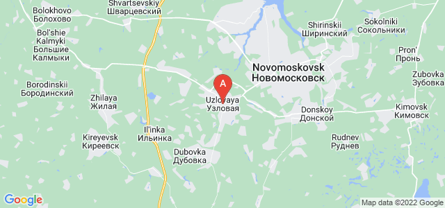 map of Uzlovaya, Russia