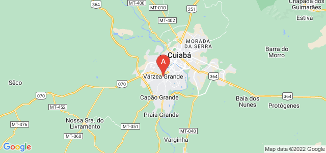 map of Várzea Grande, Brazil