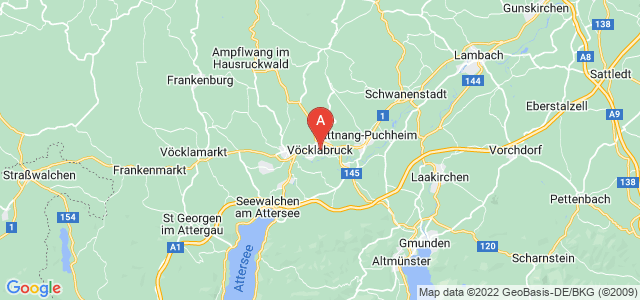 map of Vöcklabruck, Austria