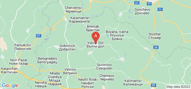 map of Valchi Dol, Bulgaria