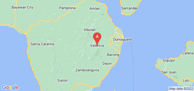 map of Valencia, Philippines