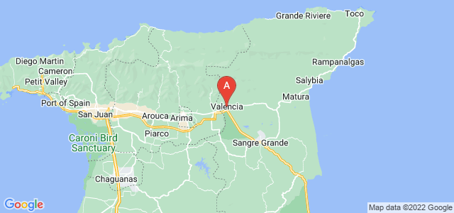map of Valencia, Trinidad and Tobago